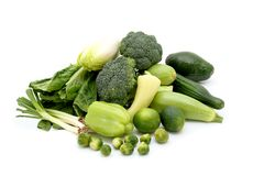 Green healthy vegetables Royalty Free Stock Photos