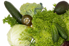 Green healthy vegetables Royalty Free Stock Images