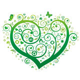Green heart Stock Image