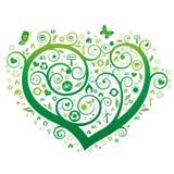 Green heart. Illustration,environment icon Stock Image