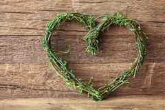 Green heart Royalty Free Stock Photography