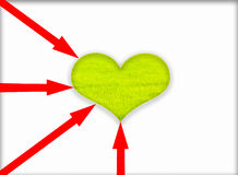 Green heart. Stock Image