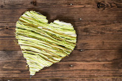 Green heart Royalty Free Stock Photos