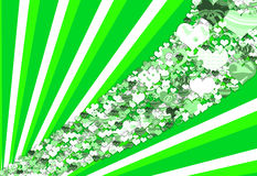Green heart background Royalty Free Stock Photography