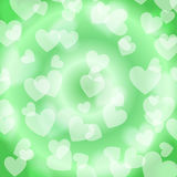 Green Heart Bokeh, pattern,  Stock Images