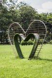 Green heart bower Stock Photo