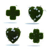 Green heart and cross collage Stock Image