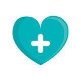Green heart cross medical. Illustration eps 10 Royalty Free Stock Photography