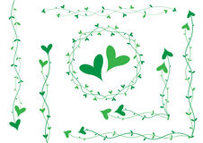 Green heart decoration Royalty Free Stock Photo