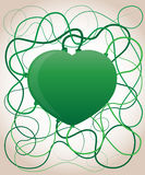 Green heart. Ecology concept Stock Image