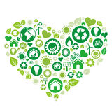 green heart,environment icon Stock Image