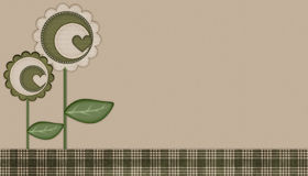 Green Heart Flowers Background Royalty Free Stock Photos