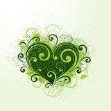 Green heart illustration Stock Photo