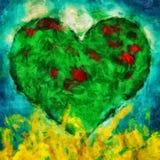 Green heart illustration Stock Photos