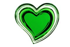 Green heart isolated on white background Stock Images