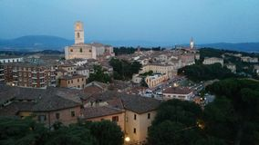 The green heart of Italy. Perugia, Umbria, Italy Royalty Free Stock Photography