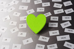 Green heart Royalty Free Stock Photos