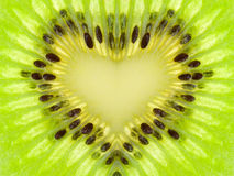 Green heart from kiwi Royalty Free Stock Photography