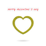 Green heart shape on background Stock Images