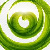 Green heart shape eco friendly background Stock Images