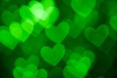Green heart shape photo holiday background Stock Photo