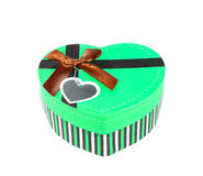 Green Heart-shaped box Stock Image