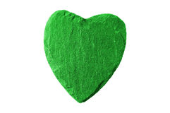 Green heart with slate structure Royalty Free Stock Photography
