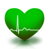 Green heart symbol Royalty Free Stock Images