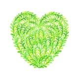 Green heart. Stock Photos