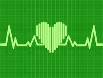 Green heartbeat background Stock Photos