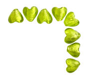 Green hearts Royalty Free Stock Photography