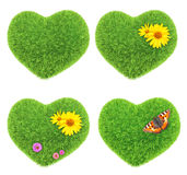 Green hearts Royalty Free Stock Photos