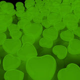 Green Hearts Background Stock Photos