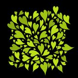 Green hearts background for your design Stock Photography