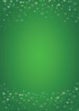 Green-hearts-love-background. A4 size vertical green background with hearts header and footer Royalty Free Stock Photo
