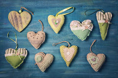 Green hearts Royalty Free Stock Image