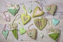 Green hearts Royalty Free Stock Photo