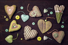 Green hearts Stock Images