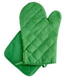 Green heat protective mitten Stock Photography