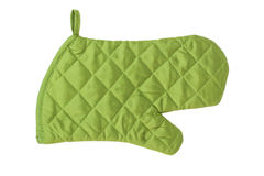 Green heat protective mitten Royalty Free Stock Images