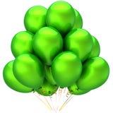 Green helium balloons Stock Image