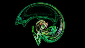 Green helmet or brain abstract background Royalty Free Stock Photography