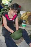 Green Helmet Vietcong Stock Images