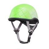 Green helmet  on white background. 3d rendering Royalty Free Stock Photos