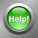 Green help button Stock Image