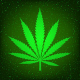Green hemp sign Royalty Free Stock Images