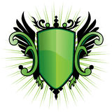 Green Herald Crest. With wings Royalty Free Stock Photos