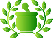 Green herbal logo Royalty Free Stock Photo