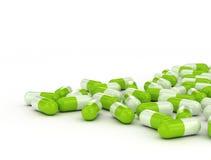 Green herbal pills Royalty Free Stock Image
