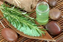 Green herbal spa Stock Photography